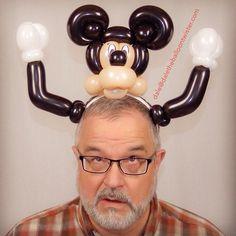 Mickey parody on a hairband.