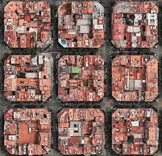 Barcelona city birds-eye-view