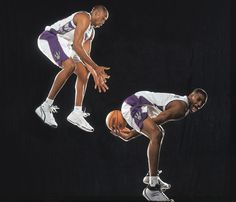 Toronto Raptors teammates and real-life cousins Tracy McGrady and Vince Carter pose for a 1999 SI photo shoot. Nba Players, Basketball Players, Rap City, Tracy Mcgrady, In The Hole, Toronto Raptors, Aba, Real Life, Photoshoot