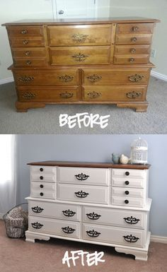 Stubbornly Crafty: Dresser Before & After