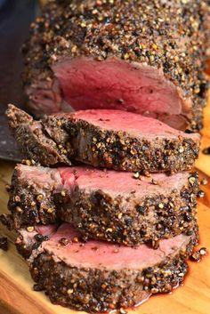 17. Pepper Crusted Beef Tenderloin