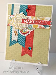 TweetScraps: More Colored Ornate Blossoms - Florence Card