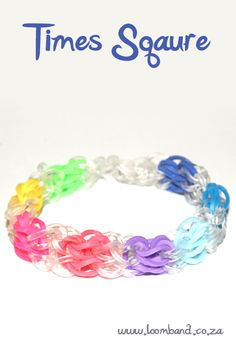 How to make a Rainbow Loom Times Square bracelet - tutorial