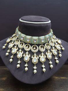 Jaipur Polki House     Diamond Polki   Vilandi   Polki   Uncut diamonds   Old cut diamonds   Traditional   Indian   Bridal   Wedding   Kundan Meena   Jadau   Jadtar   Hallmarked   Gold   Enamel   Jewelry   Jewellery   Necklaces   Necklace Sets Indian Jewelry Sets, Indian Wedding Jewelry, Bridal Jewelry, Gold Jewelry, Indian Bridal, Diamond Jewellery, Ethnic Jewelry, Pandora Jewelry, Clay Jewelry