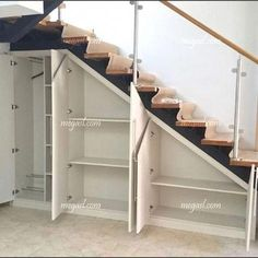 Awesome Cool Ideas To Make Storage Under Stairs 1 Basement Stairs Awesome basementremodel cool ideas Stairs storage Basement Renovations, Home Renovation, Home Remodeling, Remodeling Companies, Bedroom Closet Storage, Basement Storage, Diy Bedroom, Closet Drawers, Bedroom Ideas