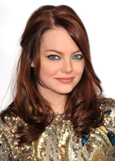 Teal eyeliner on bottom lashes Hair Makeup, Teal Eyeliner, Emma Stone, Latest Fashion Trends, Hair Color, Girly, Make Up, My Style, Wedding