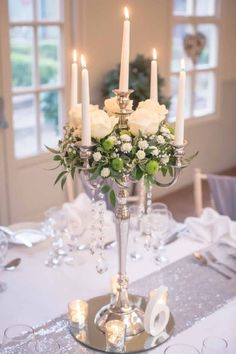 Most recent Pictures candelabra Wedding Centerpieces Suggestions Centrepieces usually are solely with the guests. These people reached indicate like plus love for that couple. Candleabra Wedding Centerpieces, Candelabra Flowers, Silver Candelabra, Lighted Centerpieces, Wedding Table Centerpieces, Flower Centerpieces, Wedding Decorations, Centrepieces, Xmas