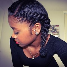Another beautiful protective style. one to add to my styling regiment.