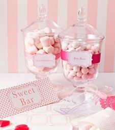 Sweet Table Deko-Set - rosa - 12-teilig