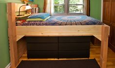 full size bed loft ideas | Building a Loft Bed at Warp Speed — The Pragmatist - NYTimes.com