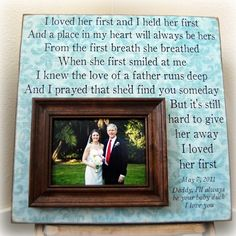 We made a video with this song in the background and hubby played it for our daughter/son-in-law at the rehearsal dinner.  I need to make this and put father / daughter / son-in-law picture in it...