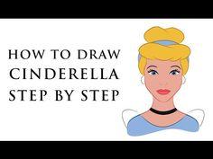 HOW TO DRAW DISNEY PRINCESS CHARACTERS FOR BEGINNERS - CINDERELLA - EASY - http://beauty.positivelifemagazine.com/how-to-draw-disney-princess-characters-for-beginners-cinderella-easy/ http://img.youtube.com/vi/uglgak89c9g/0.jpg