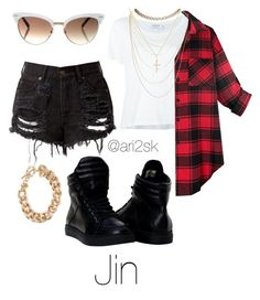 """""""Boy in love- Jin """" by ari2sk on Polyvore featuring Frame Denim, Wet Seal, Sydney Evan, NLY Accessories and Gucci"""
