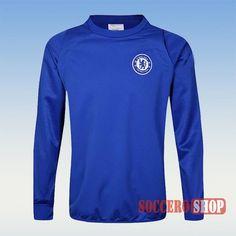 Top Quality Chelsea Newest Velour Blue Sweatshirt 2016 2017 Champions League Direct For Sale