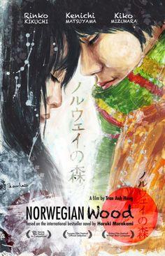 Norwegian Wood – Wikipédia, a enciclopédia livre Cinema Posters, Film Posters, Haruki Murakami Books, Kafka On The Shore, Film Poster Design, Toronto Film Festival, Norwegian Wood, Wood Book, Alternative Movie Posters