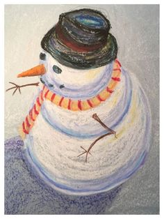 Do You Want to Draw a (Perspective) Snowman? – Design in Play Christmas Art Projects, Winter Art Projects, 6th Grade Art, Perspective Art, Ecole Art, Kindergarten Art, Art Lessons Elementary, Art Classroom, Art Club