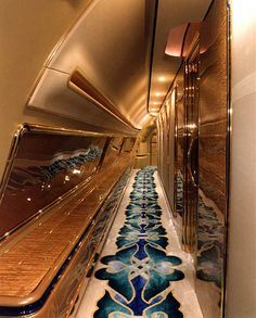 Flying Palace: Sultan Brunei's Private Jet Jets Privés De Luxe, Luxury Jets, Luxury Private Jets, Private Plane, Luxury Yachts, Avion Jet, Private Jet Interior, Aircraft Interiors, Futuristic Interior