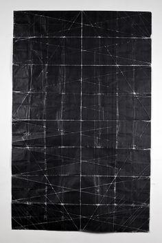 Niall McClellandTapestry - Beaten (2010)toner on paper, folded