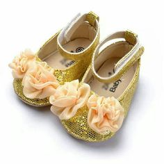Baby gold shoes!