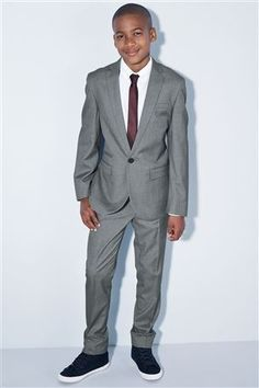 Buy Grey Jacket from the Next UK online shop For my two younger brothers same as the best man/ushers. Gray Jacket, Suit Jacket, Boys Suits, Next Uk, Uk Online, Communion, A Good Man, Coupons, Kids Outfits