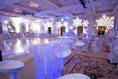 winter wonderland decorations | ... and elegant holiday party decor...consider a modern winter wonderland
