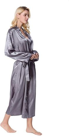 Satin Kimono, Satin Gown, Satin Dresses, Satin Nightie, Silk Satin, Satin Sleepwear, Nightwear, Pretty Lingerie, Sexy Lingerie