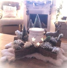 Rattan, Om, Shabby, Christmas Decorations, Bullet Journal, Cottage, Candles, Rustic, Decorating