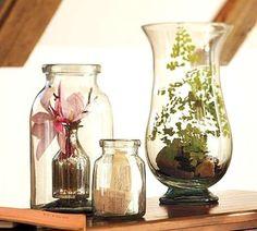 Decorare casa con i barattoli di vetro - Vasi di forme e dimensioni diverse