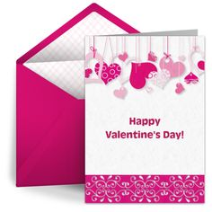 """String of Hearts"" free digital Valentine's Day card by Punchbowl. We love this design for moms and sisters!"