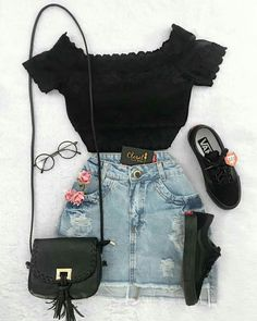 Stylish Outfits for Teens Teenage Outfits, Teen Fashion Outfits, Mode Outfits, Look Fashion, Outfits For Teens, Trendy Fashion, Girl Fashion, Summer Outfits, Girl Outfits