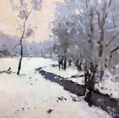 Image result for richard oversmith snow paintings #OilPaintingWinter