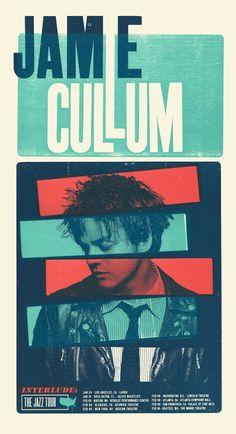 Jamie Cullum, 3-color letterpress tour poster, 2015