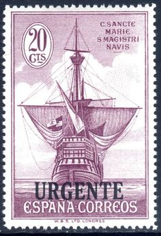 Spain 1930 20c Columbus Express lightly mounted mint.