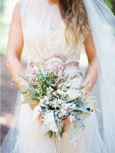 Unique boho bridal bouquet. Photo by Erich McVey Photography www.wedsociety.com #wedding #bouquet