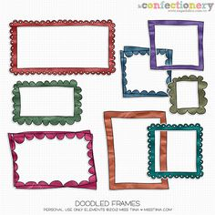 SHCO Confectionery - PU - Elements - Doodle Frames {PU} Join at http://www.sugarhillco.com/cc
