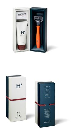 Harry's Set — The Dieline - Branding & Packaging. - a grouped images picture Luxury Packaging, Beauty Packaging, Brand Packaging, Box Packaging, Perfume Packaging, Paper Packaging, Design Packaging, Product Packaging, Label Design
