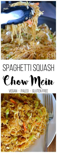 Spaghetti Squash Chow Mein - Easy Paleo, grain free, gluten free dinner the whole family will love!