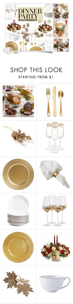 """""""#PolyPresents: Dinner Party"""" by uaresobeautiful ❤ liked on Polyvore featuring interior, interiors, interior design, home, home decor, interior decorating, Posh Totty Designs, Jay Import, Juliska and contestentry"""