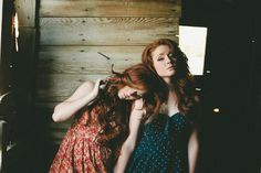 EDEN AND IVY   red head, redhead, ginger, long hair- the one on the left looks like Debby Ryan!