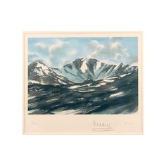 A limited edition lithograph created from one of HRH The Prince of Wales's watercolour paintings showing a view of Lochnagar in Scotland. The Lithograph is limited to an edition of one hundred. Each lithograph is individually numbered, signed by The Prince of Wales and comes with a certificate of authenticity. His Royal Highness  has painted many watercolours of his favourite views of Scotland.  Lochnagar is in the Grampians of Scotland, located about five miles from the River Dee near…
