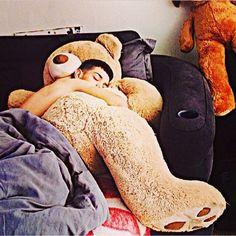 Wishing I was the teddy bear ~Luis Coronel....I Brenda have the teddy bear!!!!!!