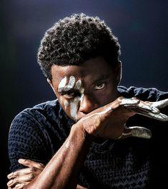 Black Panther : theavengers: Chadwick Boseman photographed by...