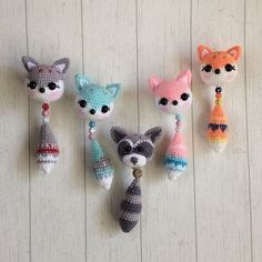 Animals Keychain Key ring Key fob Animals Pendant Gift funny Pendant Funny Keychain Pendant Bag accessories gift for her Crochet Keychain - Amigurumi Amigurumi crochet toys handmade toys toys for by imorkovnyitoys Cute fox heads, link doesn't go direct Crochet Fox, Crochet Patterns Amigurumi, Cute Crochet, Amigurumi Doll, Crochet Animals, Crochet Dolls, Crochet Mignon, Crochet Keychain, Crochet Earrings
