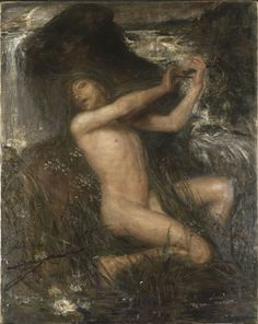 Ernst Josephson (1851–1906)    The Water Sprite, 1882  oil on canvas  144 × 114 cm (56.7 × 44.9 in)  Nationalmuseum