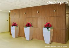Corby (Large) Planter | Decorpro Arrange these pretty planters,with poinsettias, in groups of three or four for a spectacularly special arrangement in a grand front foyer, as a welcome presence for guests over the holidays.