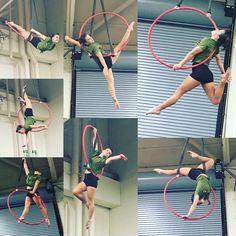 A little #Lyra action at the #allamericantattooconvention #aerialistoffayetteville #aerialistofig #airbornaerialfitness #aerialfit #fitchicks #fayettevillenc #aerialhoop