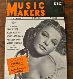 Vintage Magazine Music Makers 1940 by cynthiasattic on Etsy, $15.00