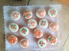 Coral Girly cup cakes