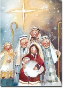 Nativity by Minna Immonen Christmas Time Is Here, Magical Christmas, Christmas Nativity, Christmas Clipart, A Christmas Story, Christmas Art, Winter Christmas, Christmas Printables, Vintage Christmas