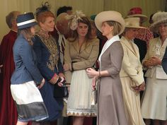 Princess Eugenie of York, Sarah Ferguson, Princess Beatrice of York, the Duchess of Gloucester, and the Duchess of Cornwall @ the Garter Service in 2006.